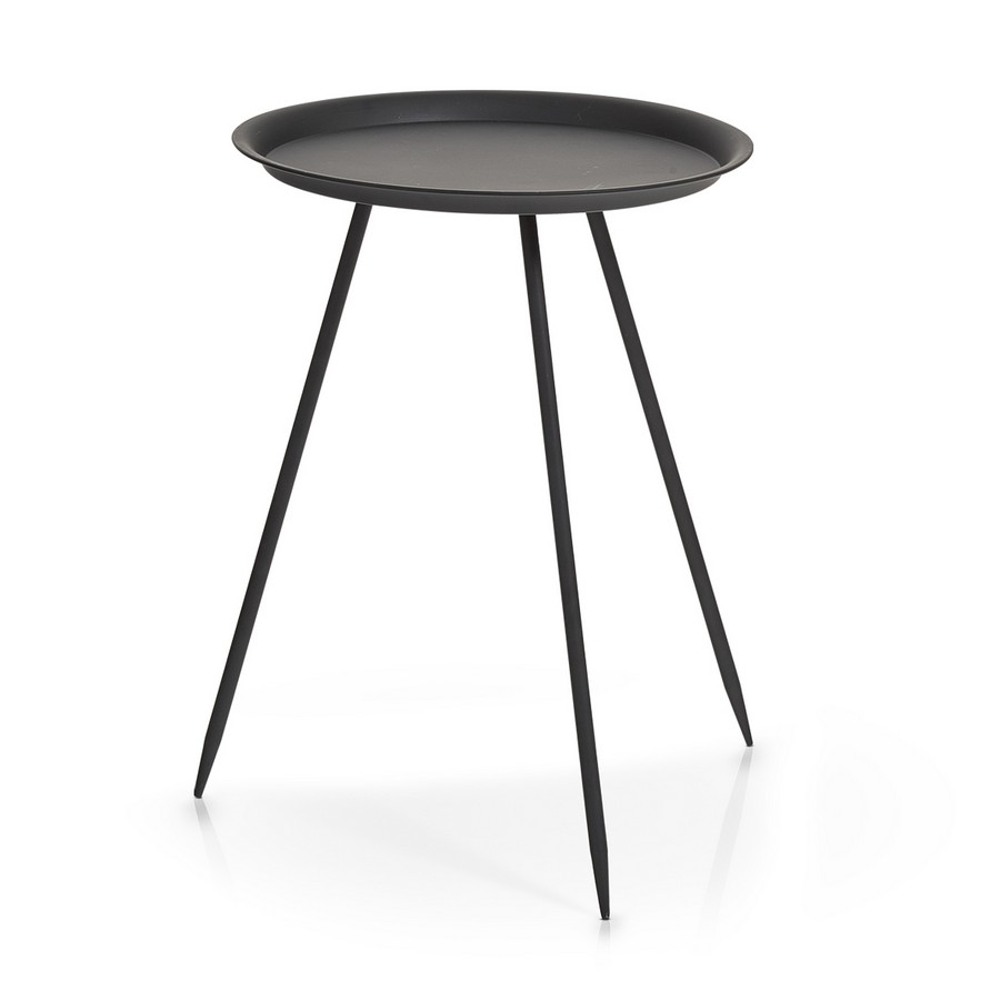 beistelltisch rund metall schwarz 39 5cm kaufen lumizil. Black Bedroom Furniture Sets. Home Design Ideas